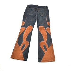 Rare Dolce and Gabanna Vintage Suede Jeans